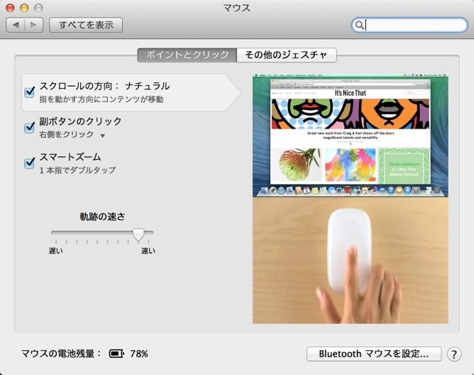 Magic Mouse 設定2
