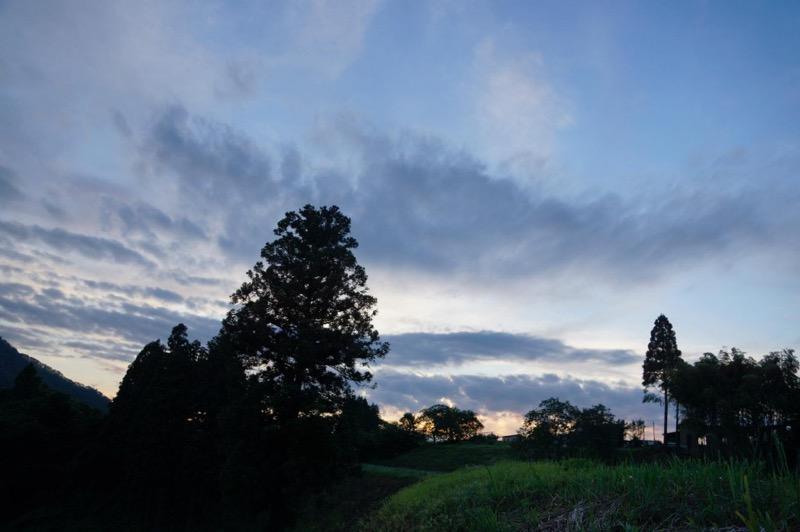 田舎の夕暮れ