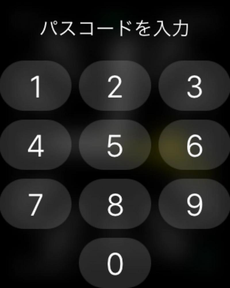 AppleWatchパスコードROCK