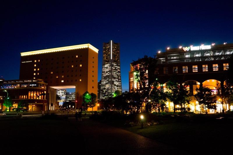 横浜の夜景を撮影