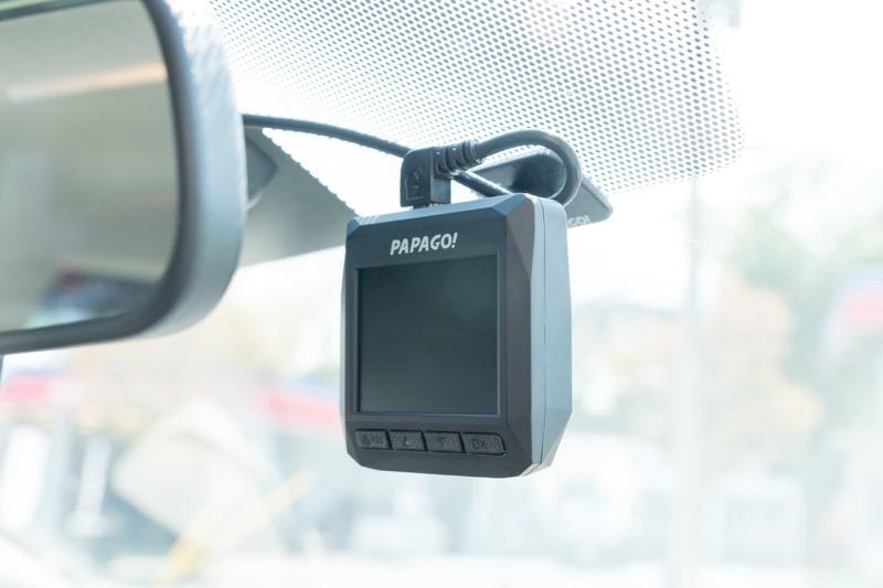 papago gosafe d11 ドライブレコーダー_GPS取り付け